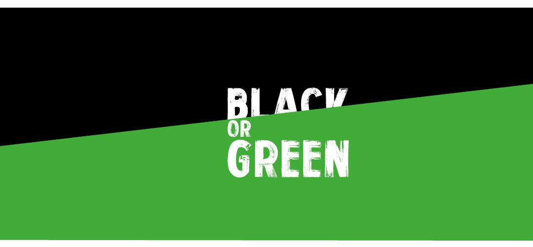 "Green Friday : bannière ""Black or green"""