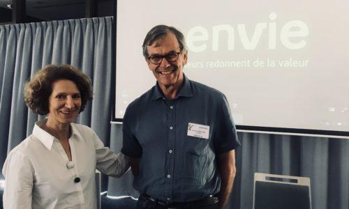 Envie - Photo d'Anémone Bérès, ancienne présidente de la Fédaration Envie et de Jean-Paul Raillard, président de la Fédaration Envie