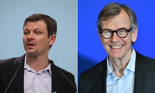 Photo de Guillaume Balas, nommé Délégué Général de la Fédération Envie, et de Jean-Paul Raillard, réélu à la présidence du Réseau Envie