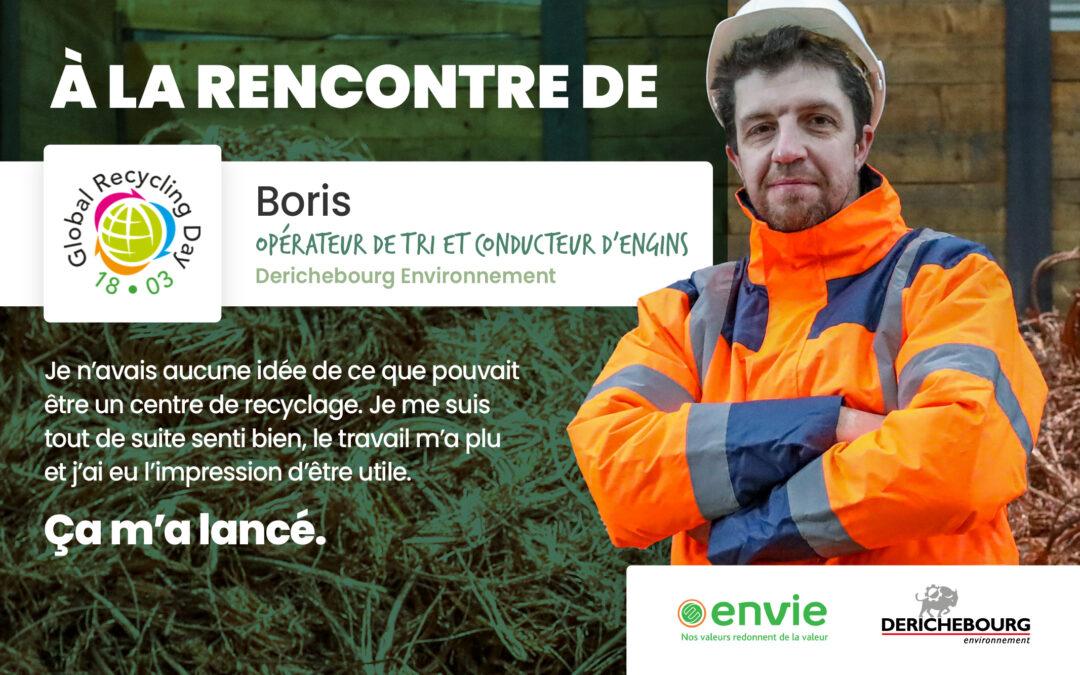 À la rencontre de Boris, opérateur de tri et conducteur d'engins chez Derichebourg Environnement
