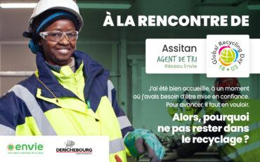 Journée mondiale du recyclage – Rencontre avec Assitan